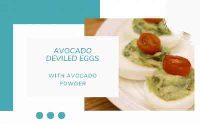 Avocado Deviled Eggs {Made with Avocado Powder} for the Keto Diet