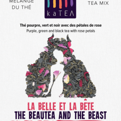The BeauTea and the Beast purple tea blend with rose flower (100g)