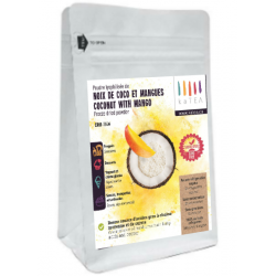 Freeze-dried Coconut with Mango Powder Mix (100g) | Just Mix with water and enjoy| Vegan cuisine | Monounsaturated fats : healthy fats | Freeze-dried Dessert| magnificent ingredient for home made Gelato, toast spread, jam DIY