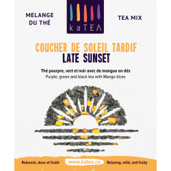 Late Sunset - purple tea mix with organic mango (100g)