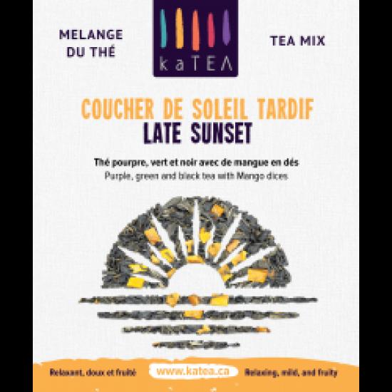 Late Sunset - purple tea mix with organic mango (100g)