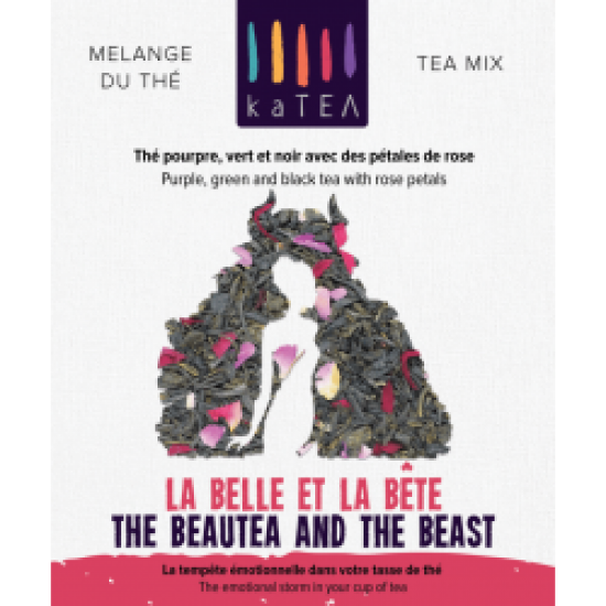 The BeauTea and the Beast purple tea blend with rose flower  (4x100g)